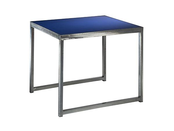 Sydney End Table in Blue (CEST-027) -- Trade Show Furniture Rental