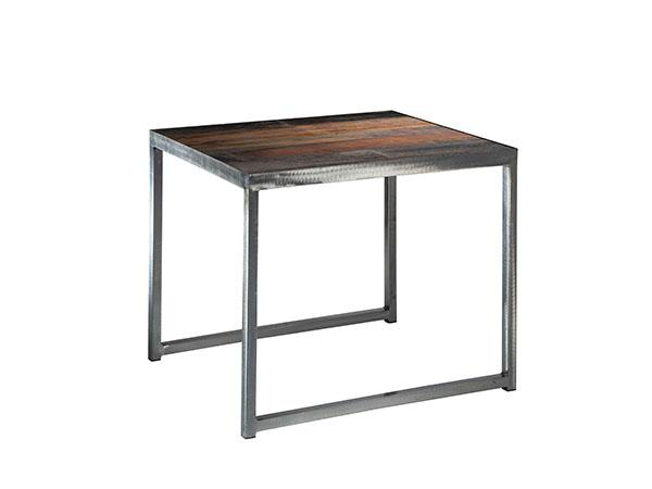 Sydney End Table in Wood Grain (CEST-028) -- Trade Show Furniture Rental