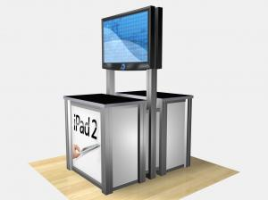RE-1233  /  Double-Sided Rectangular Counter Kiosk